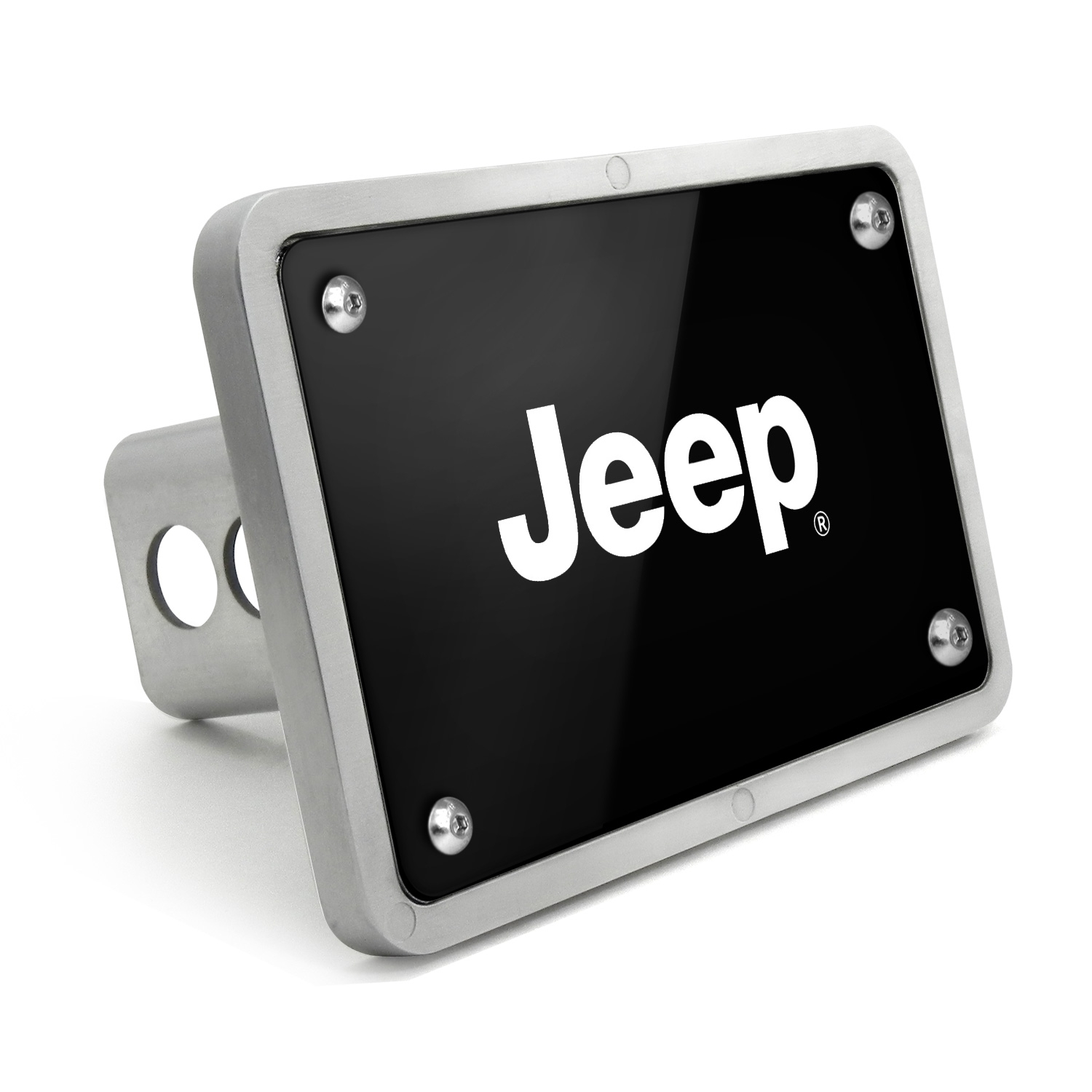 Jeep UV Graphic Black Billet Aluminum 2 inch Tow Hitch Cover