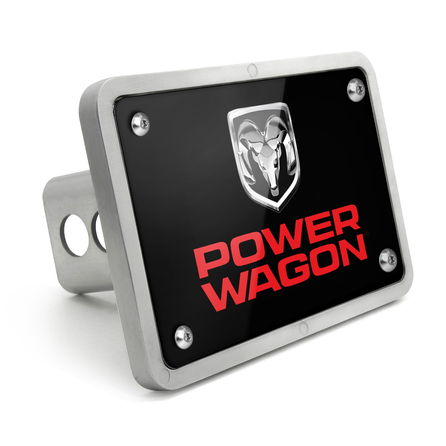 RAM Power Wagon UV Graphic Black Billet Aluminum 2 inch Tow Hitch Cover