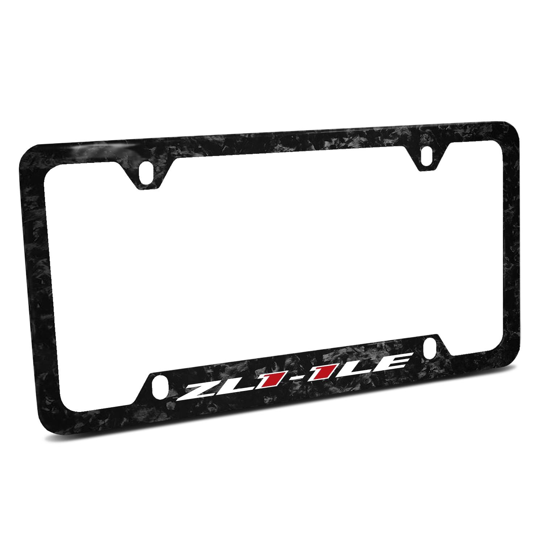 Chevrolet Camaro ZL1-1LE Logo Real Black Forged Carbon Fiber 50 States License Plate Frame