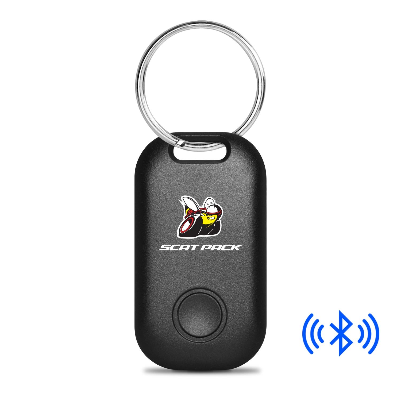Dodge Scat-Pack Full Color Bluetooth Smart Key Finder Black Key Chain