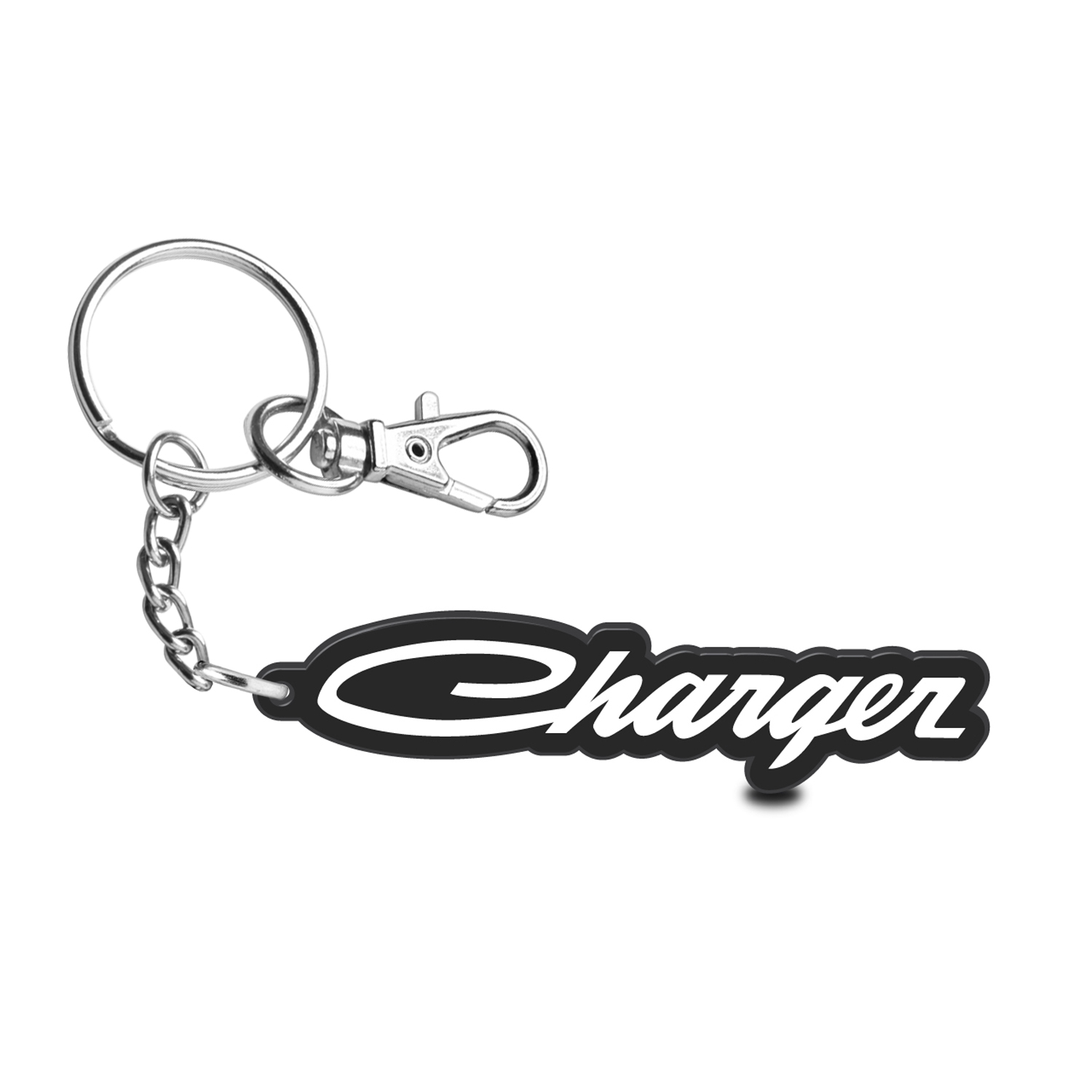 Dodge Charger Classic Custom Laser Cut with UV Full-Color Printing Acrylic Charm Key Chain