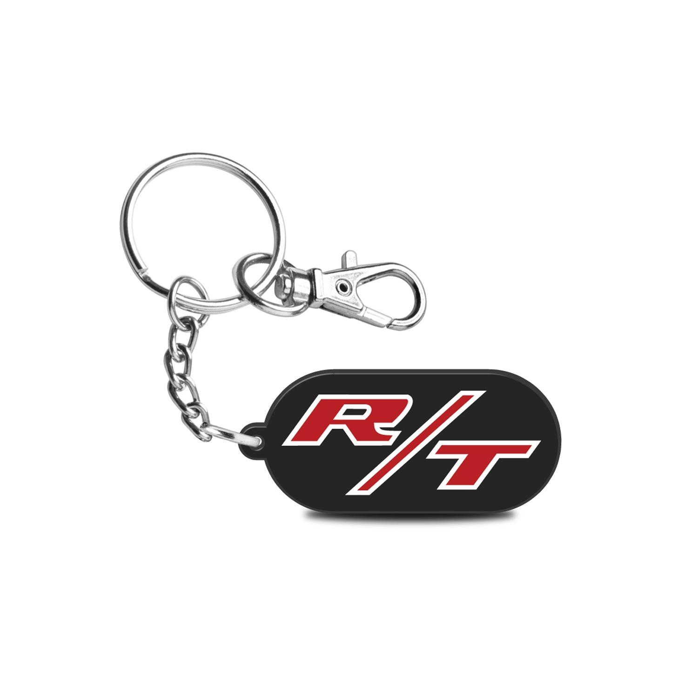 Dodge R/T Logo Custom Laser Cut with UV Full-Color Printing Acrylic Charm Key Chain