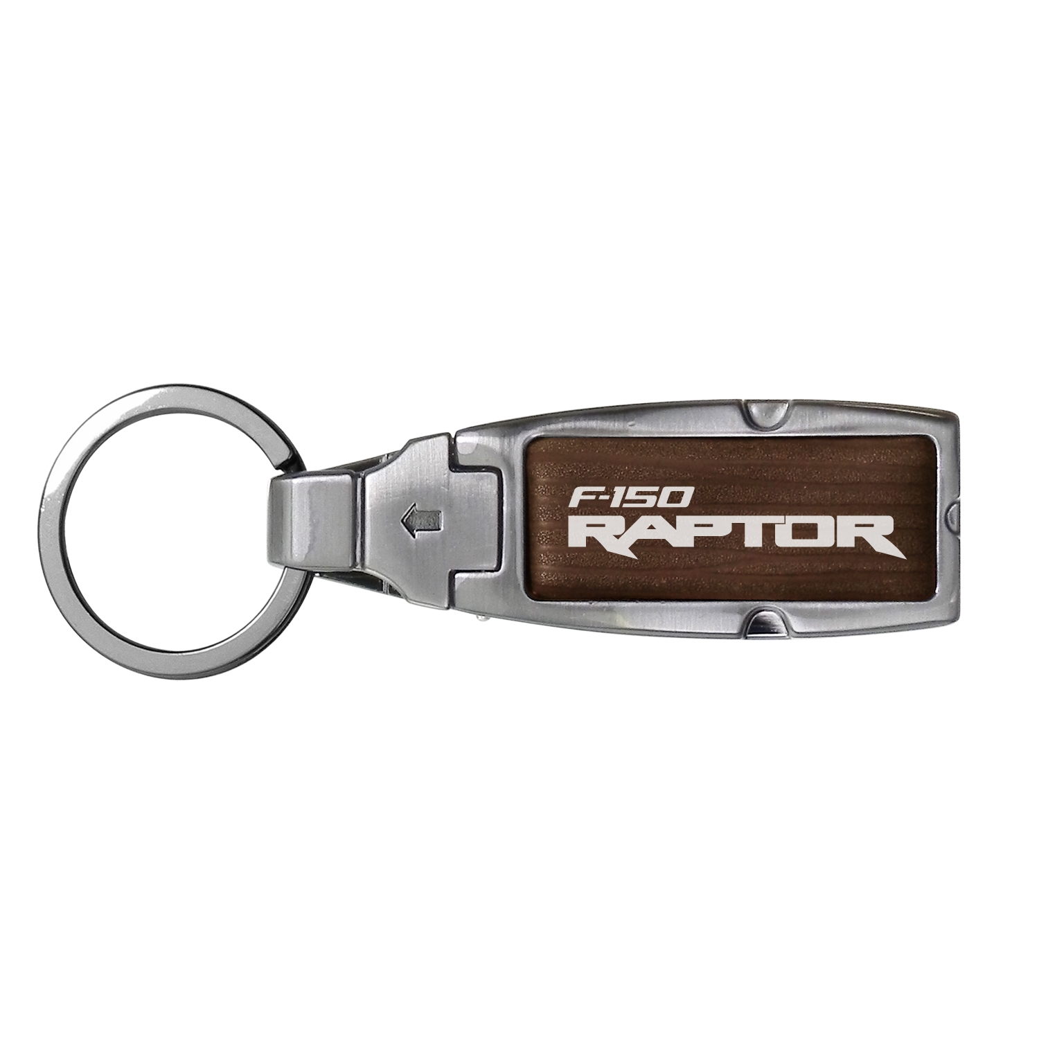 Ford F150 Raptor in Color Brown Leather Detachable Ring Black Metal Key Chain