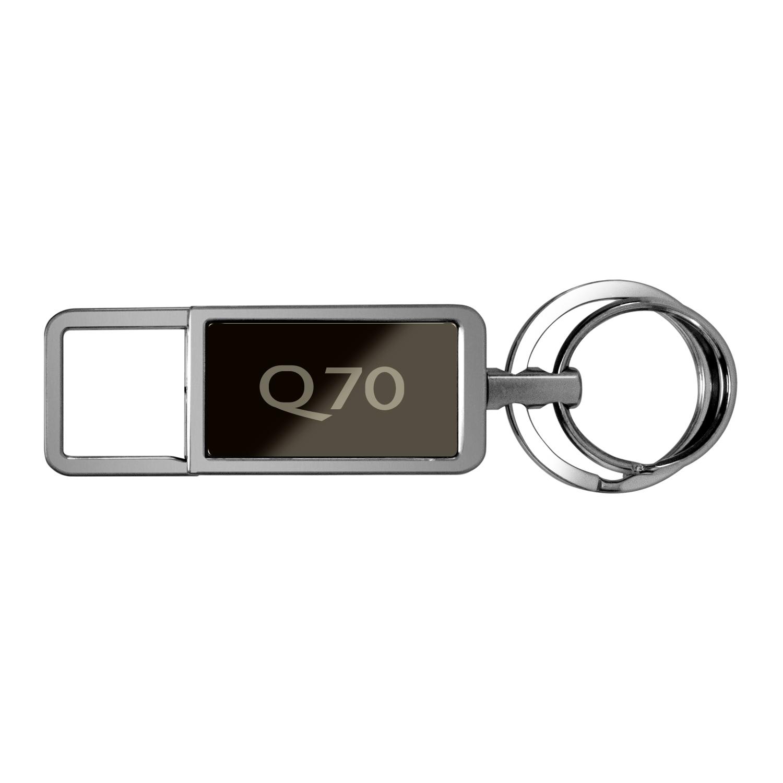 Infiniti Q70 Black Pull Top Rectangular Metal Key Chain