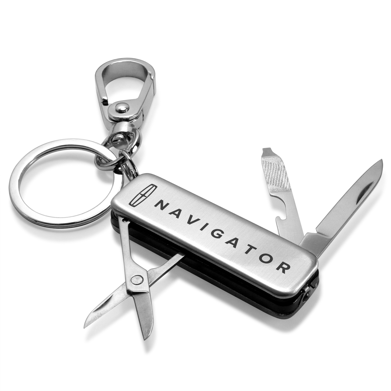 Lincoln Navigator Multi-Tool LED Light Metal Key Chain