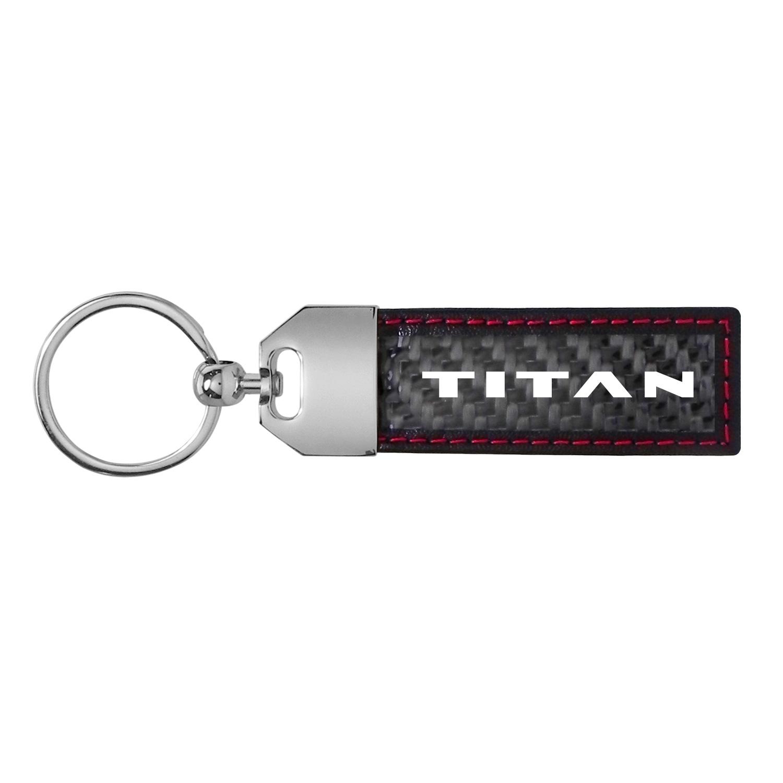 Nissan Titan Real Carbon Fiber Strap Key Chain