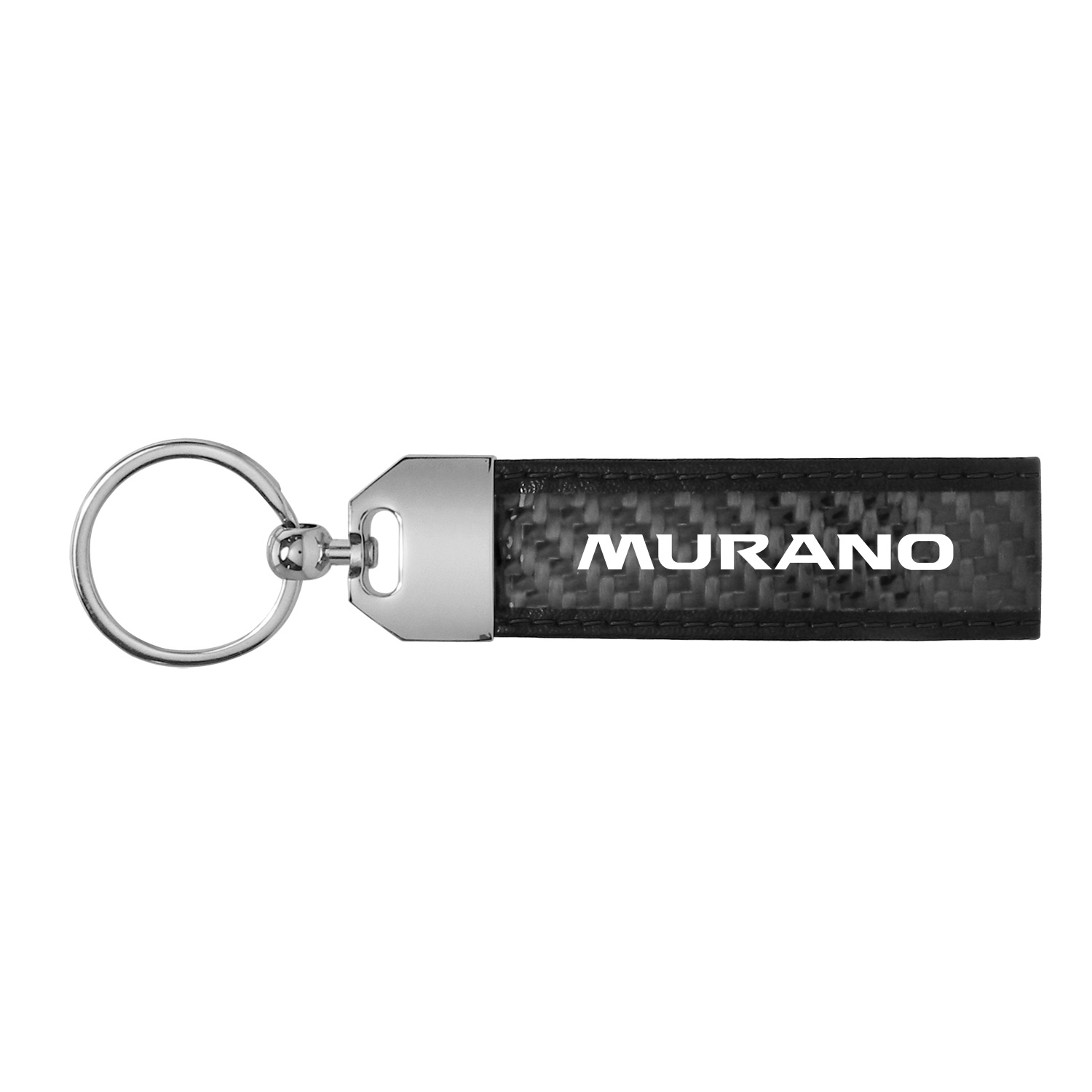 Nissan Murano Real Carbon Fiber Loop Key Chain with Black Stitching