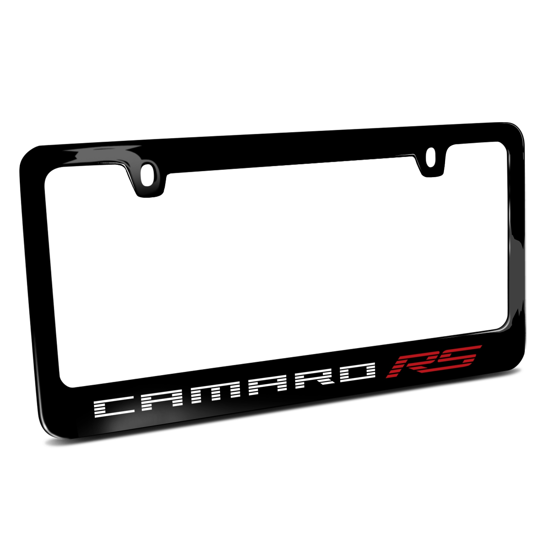Chevrolet Camaro RS 2010 Speed-Line Black Metal License Plate Frame