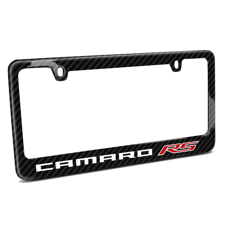 Chevrolet Camaro RS 2010  Black Real Carbon Fiber License Plate Frame