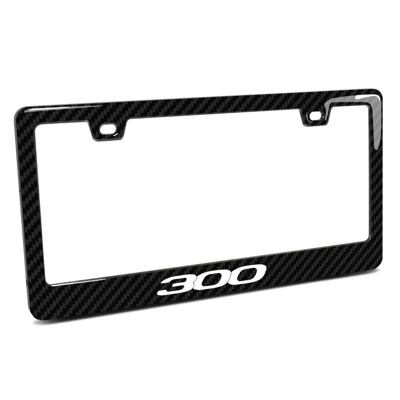 Chrysler 300 Black Real 3K Carbon Fiber Finish ABS Plastic License Plate Frame