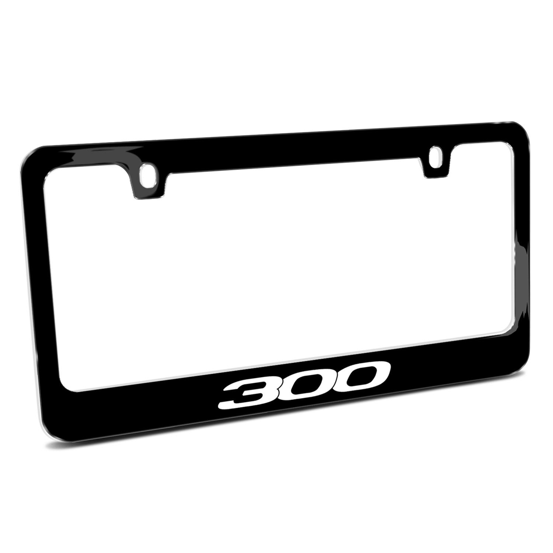 Chrysler 300 Black Metal License Plate Frame