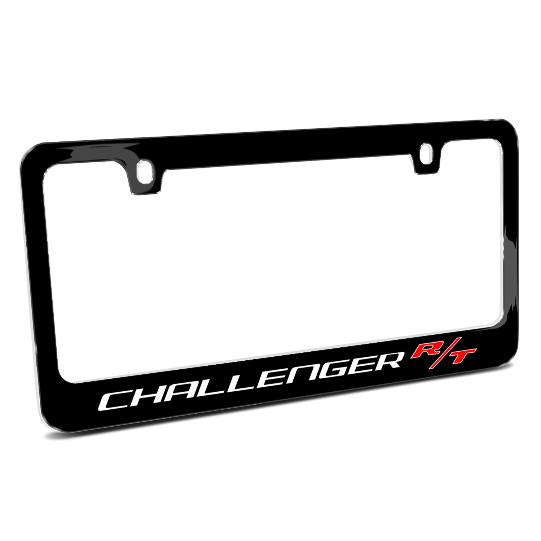 Dodge Challenger R/T Black Metal License Plate Frame