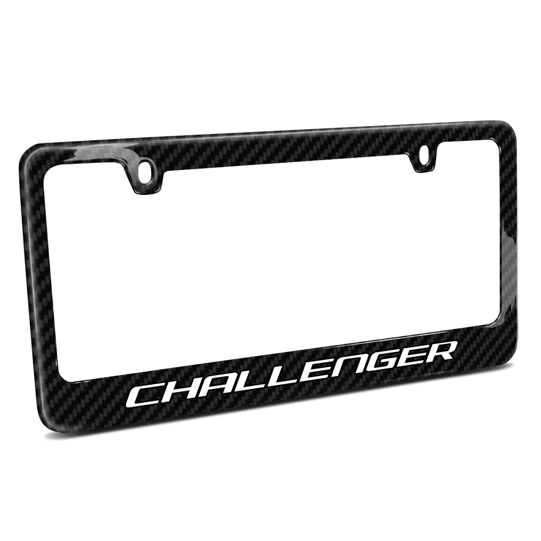 Dodge Challenger Black Real Carbon Fiber License Plate Frame