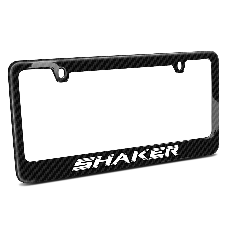 Dodge Challenger Shaker Black Real Carbon Fiber License Plate Frame