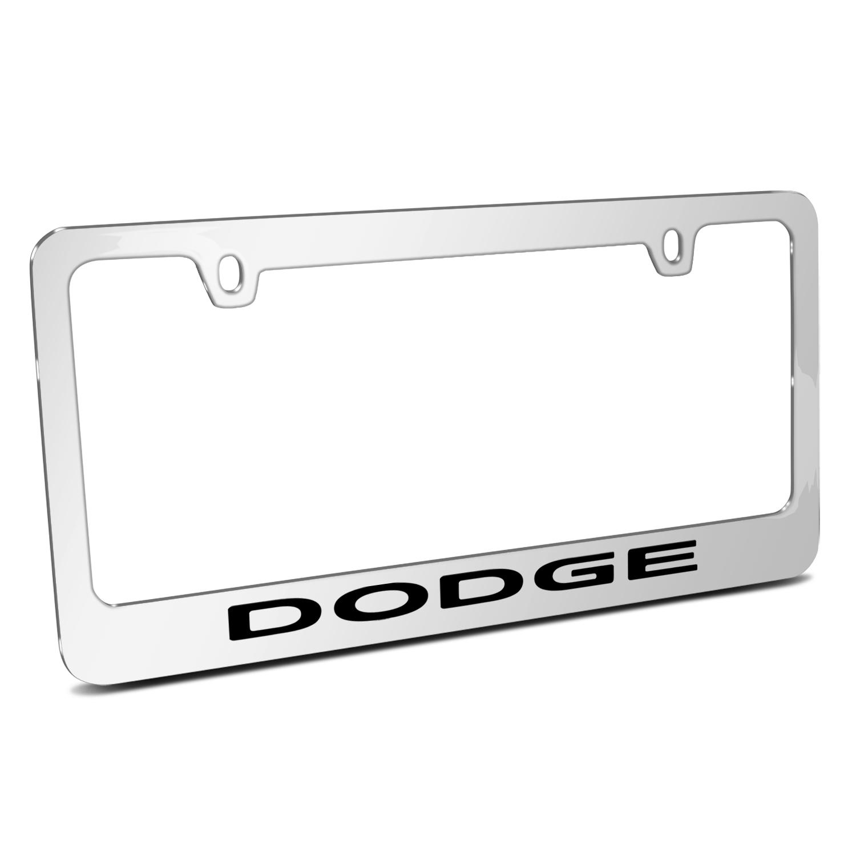 Dodge Mirror Chrome Metal License Plate Frame