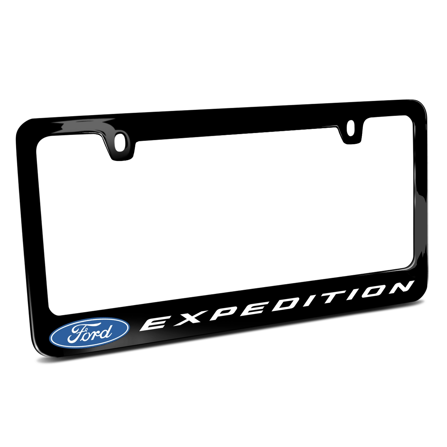 Ford Expedition Black Metal License Plate Frame