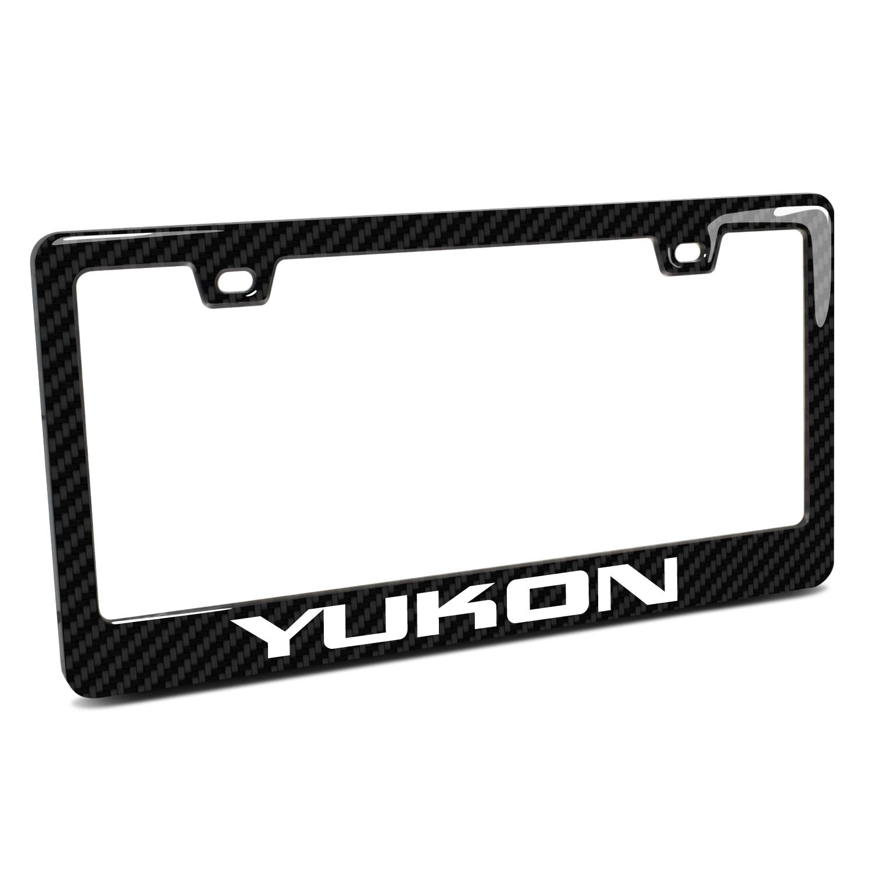 GMC Yukon in 3D on Real 3K Carbon Fiber Finish ABS Plastic License Plate Frame