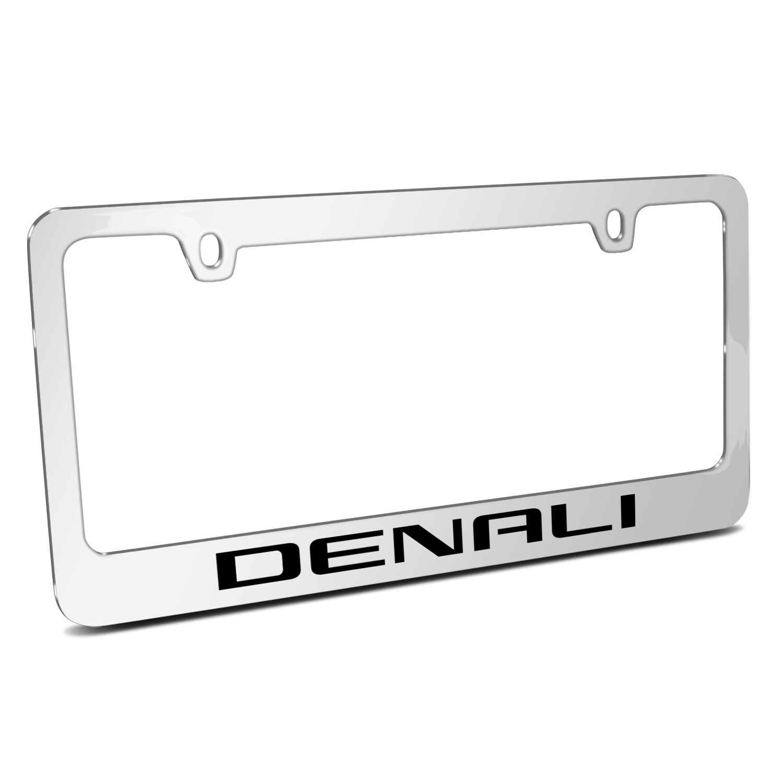 GMC Denali 2014 Mirror Chrome Metal License Plate Frame