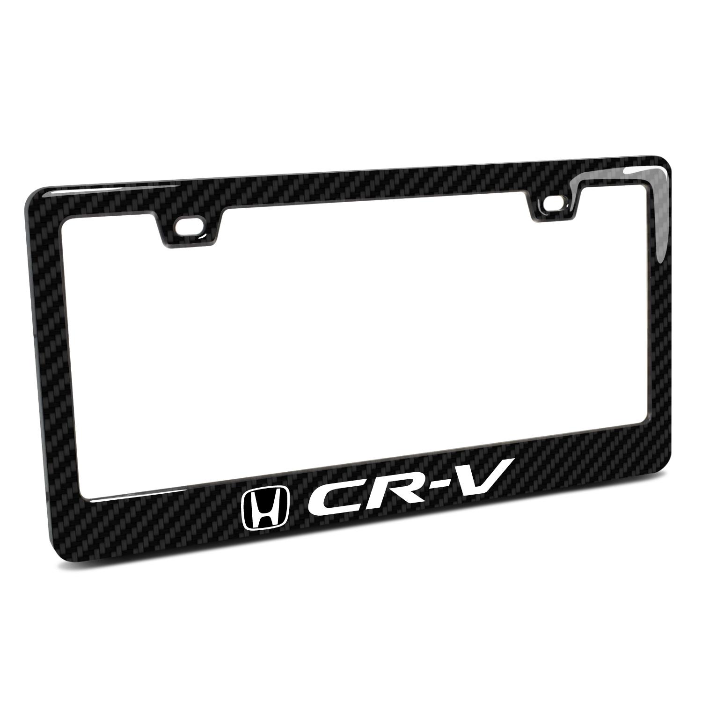 Honda CR-V Black Real 3K Carbon Fiber Finish ABS Plastic License Plate Frame