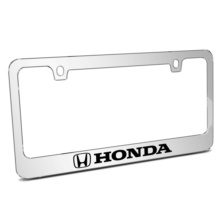 Honda Logo Mirror Chrome Metal License Plate Frame