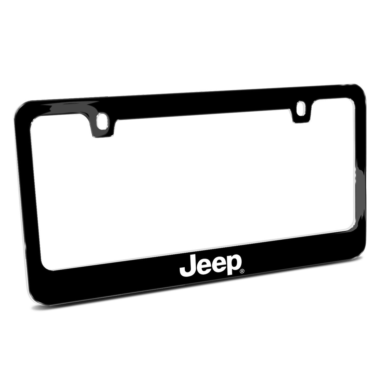 Jeep Black Metal License Plate Frame