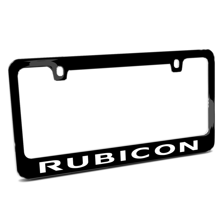 Jeep Rubicon Black Metal License Plate Frame