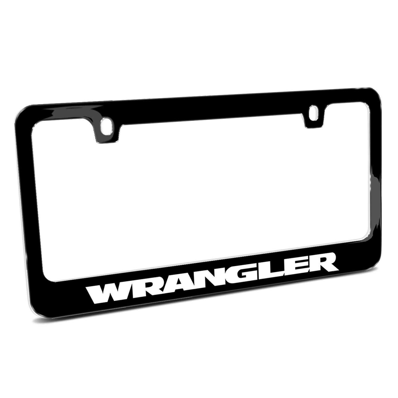 Jeep Wrangler Black Metal License Plate Frame