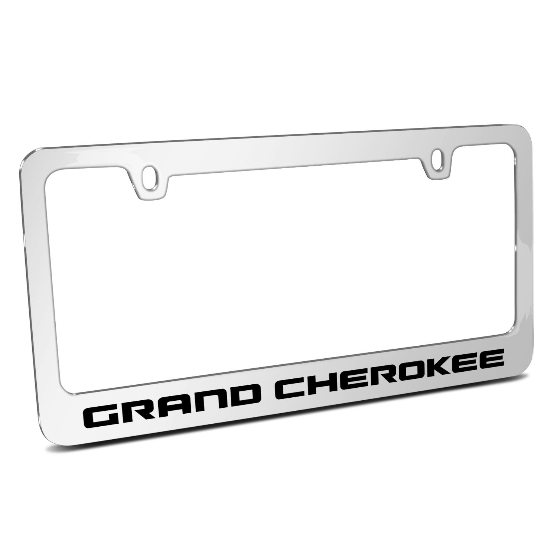 Jeep Grand Cherokee Mirror Chrome Metal License Plate Frame