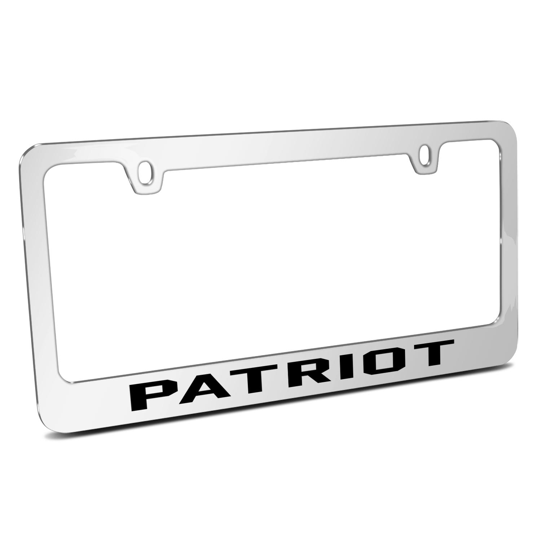 Jeep Patriot Mirror Chrome Metal License Plate Frame