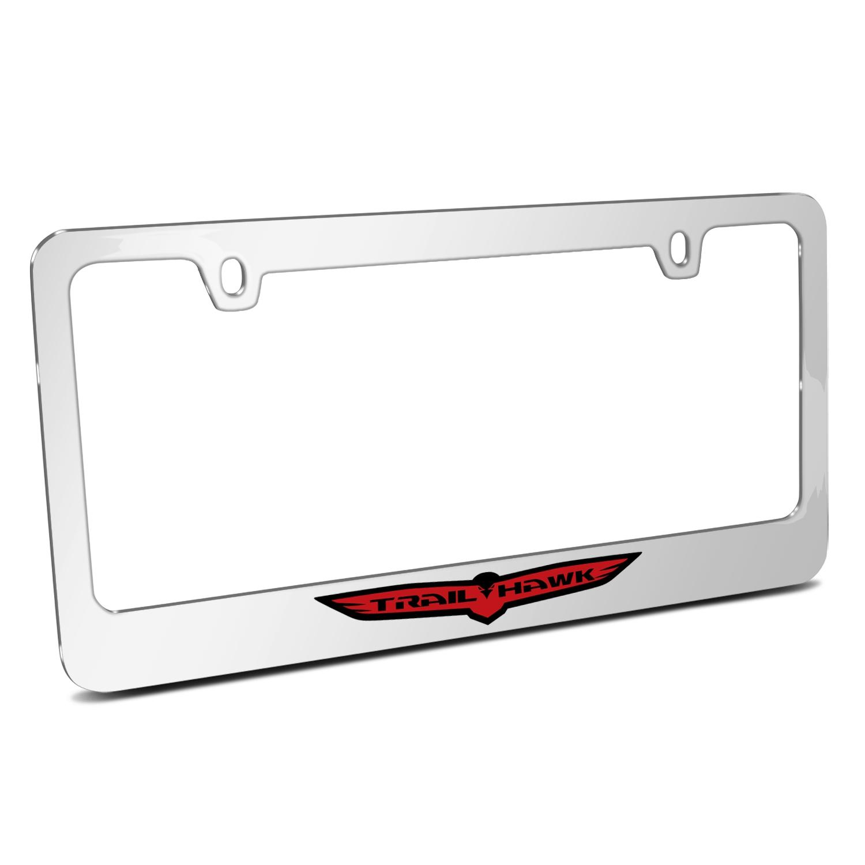Jeep Trailhawk Mirror Chrome Metal License Plate Frame