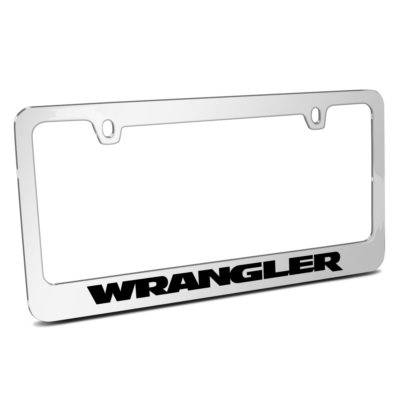 Jeep Wrangler Mirror Chrome Metal License Plate Frame