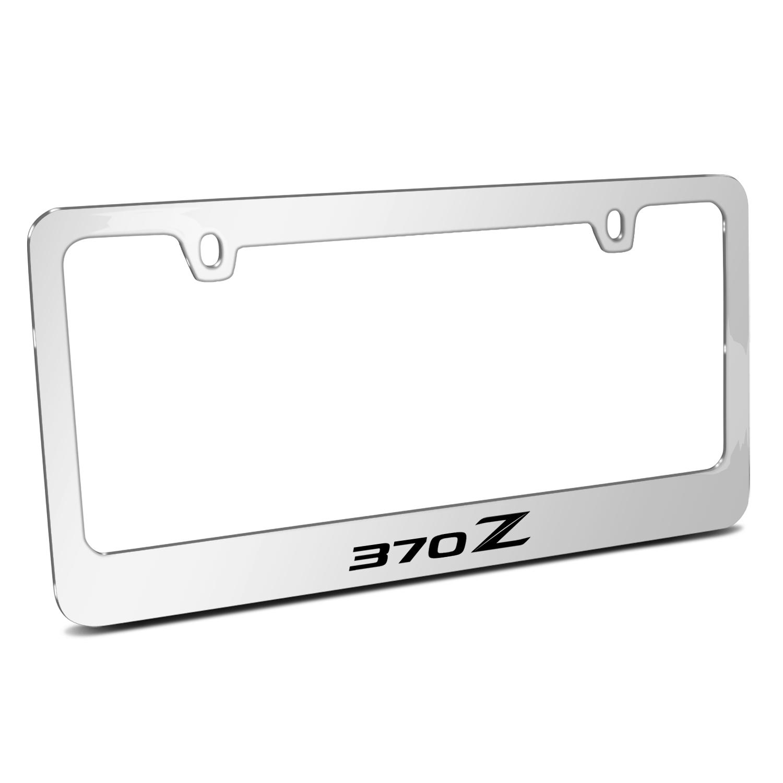 Nissan 370Z Mirror Chrome Metal License Plate Frame