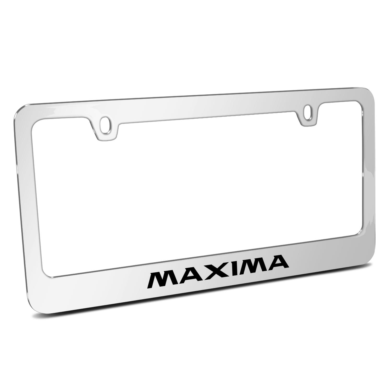 Nissan Maxima Mirror Chrome Metal License Plate Frame