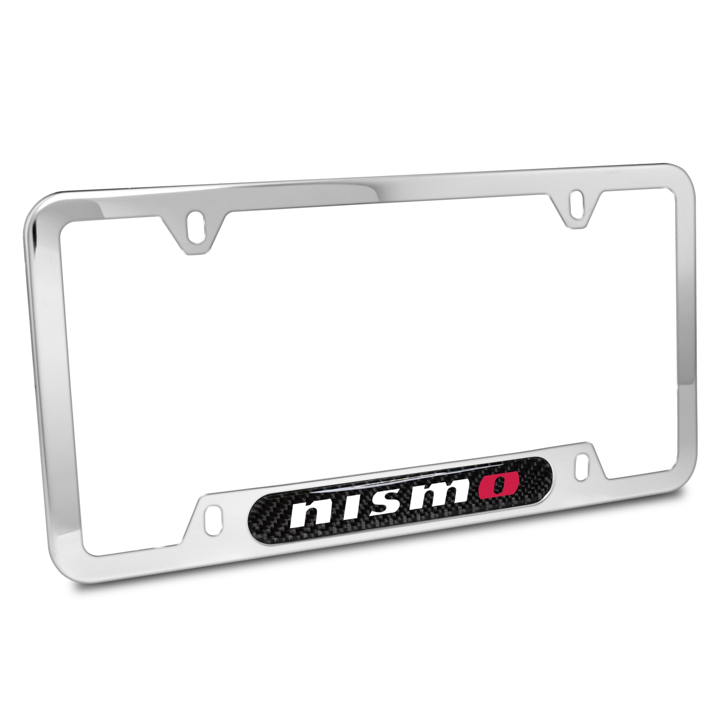 Nissan NISMO Real Carbon Fiber Nameplate Chrome Stainless Steel License Plate Frame