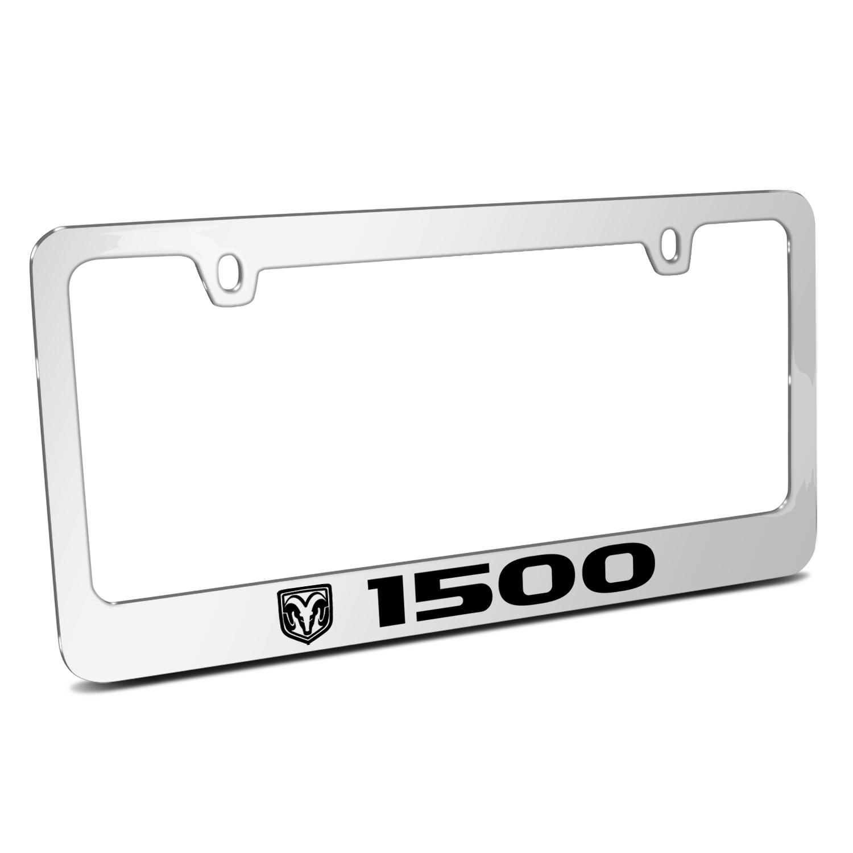 RAM 1500 Logo Mirror Chrome Metal License Plate Frame