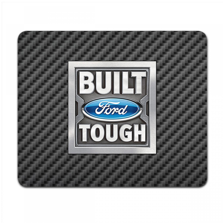 Ford Built Ford Tough Black Carbon Fiber Texture Graphic PC Mouse Pad