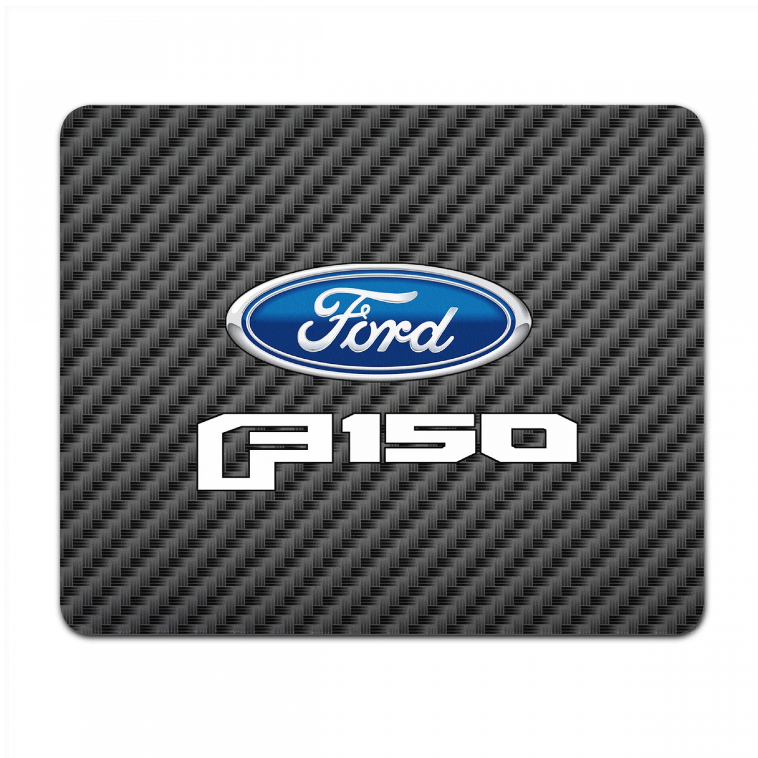 Ford F-150 2015 to 2017 Black Carbon Fiber Texture Graphic PC Mouse Pad