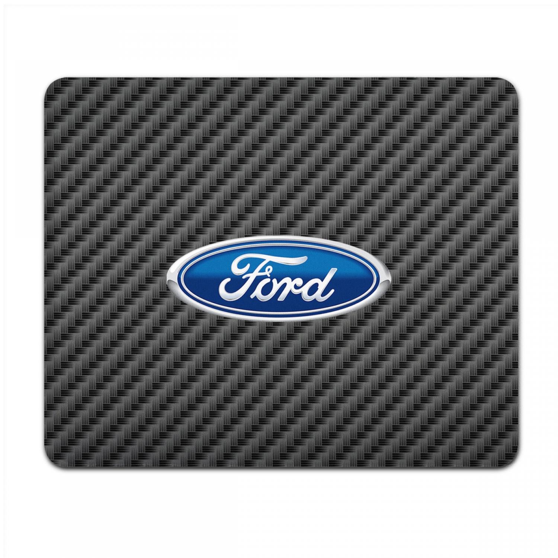 Ford Logo Black Carbon Fiber Texture Graphic PC Mouse Pad