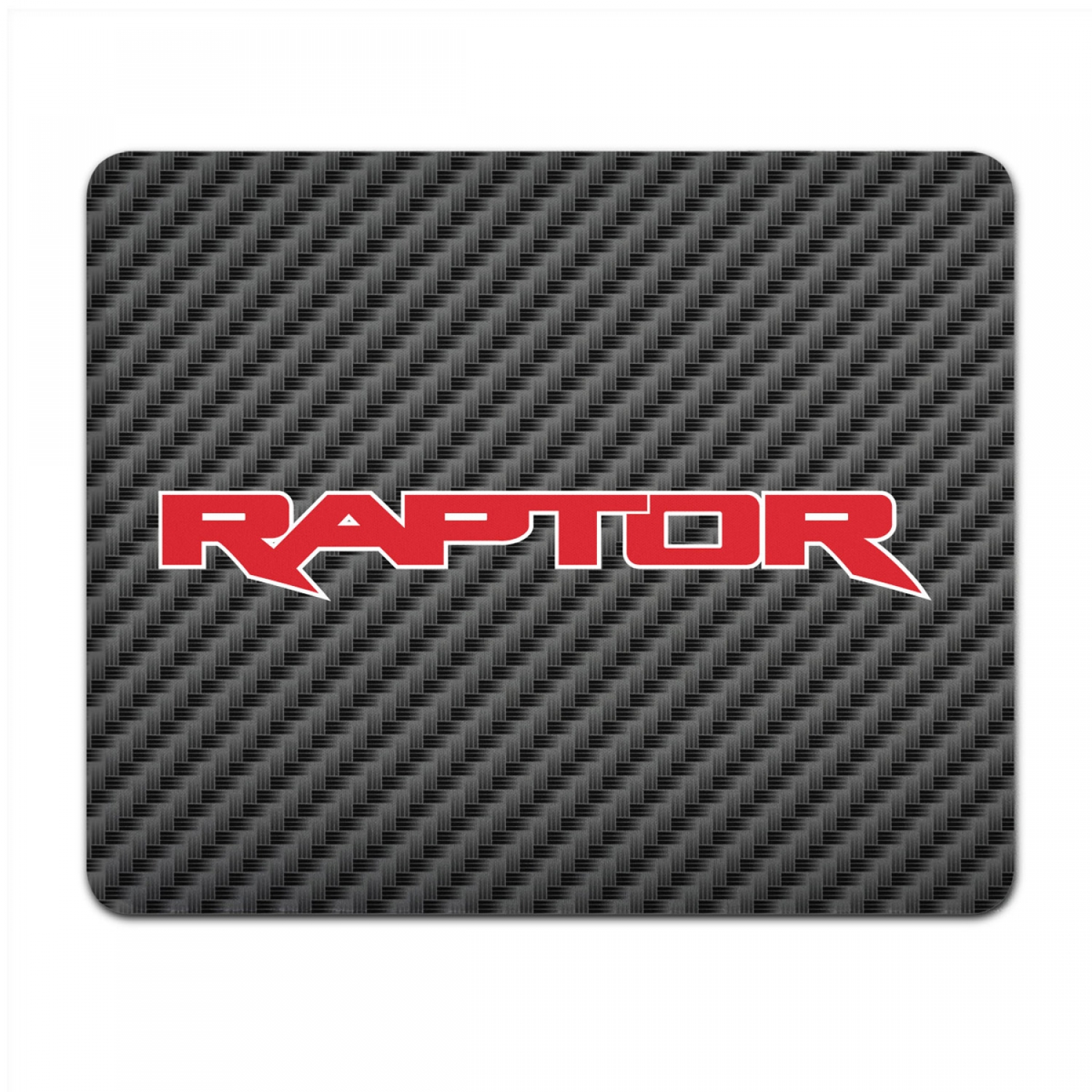 Ford F-150 Raptor 2017 in Red Black Carbon Fiber Texture Graphic PC Mouse Pad