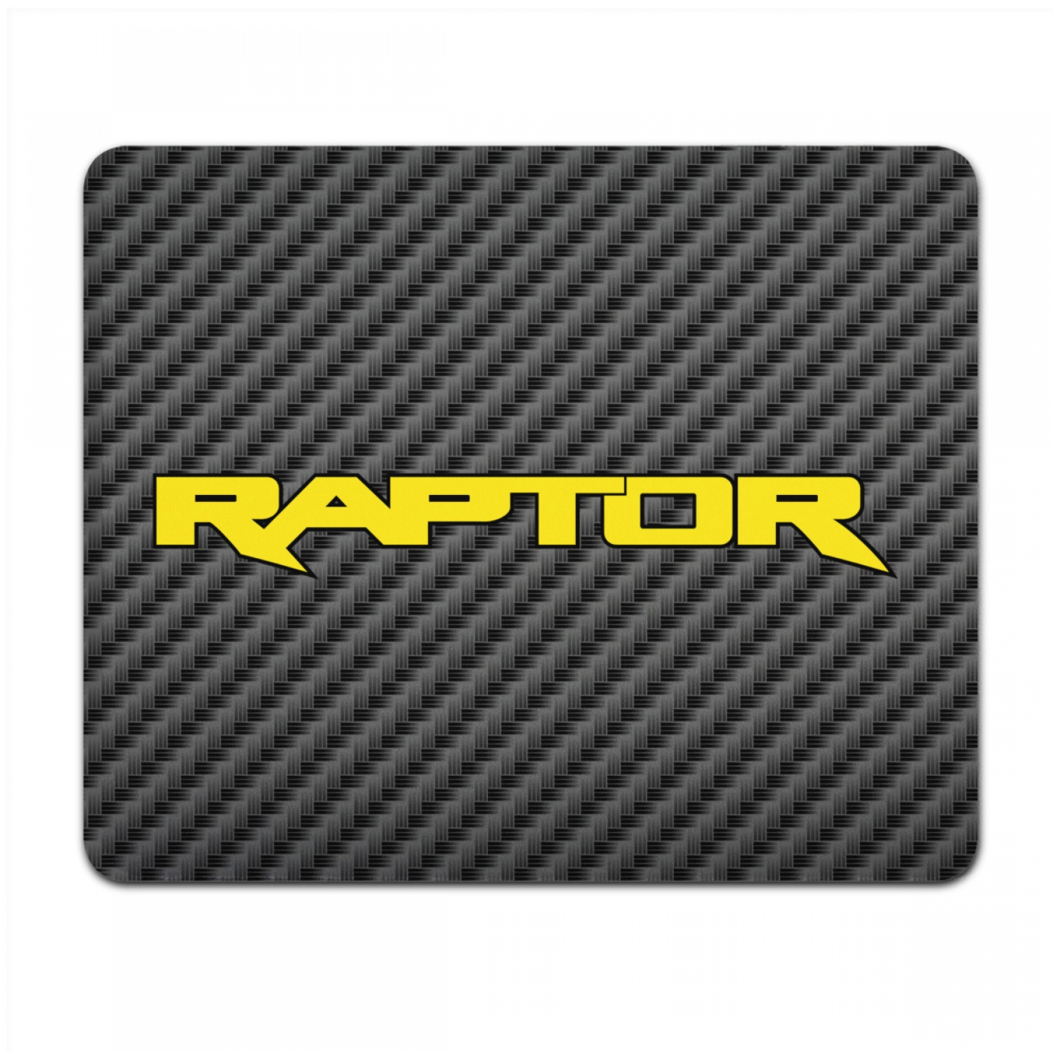 Ford F-150 Raptor 2017 Yellow Black Carbon Fiber Texture Graphic PC Mouse Pad