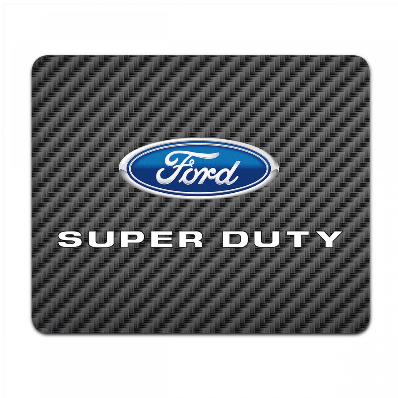 Ford Super-Duty Black Carbon Fiber Texture Graphic PC Mouse Pad