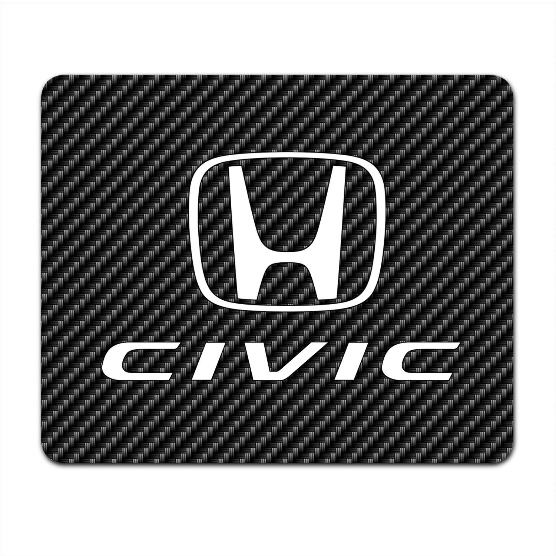 Honda Civic Black Carbon Fiber Texture Graphic PC Mouse Pad