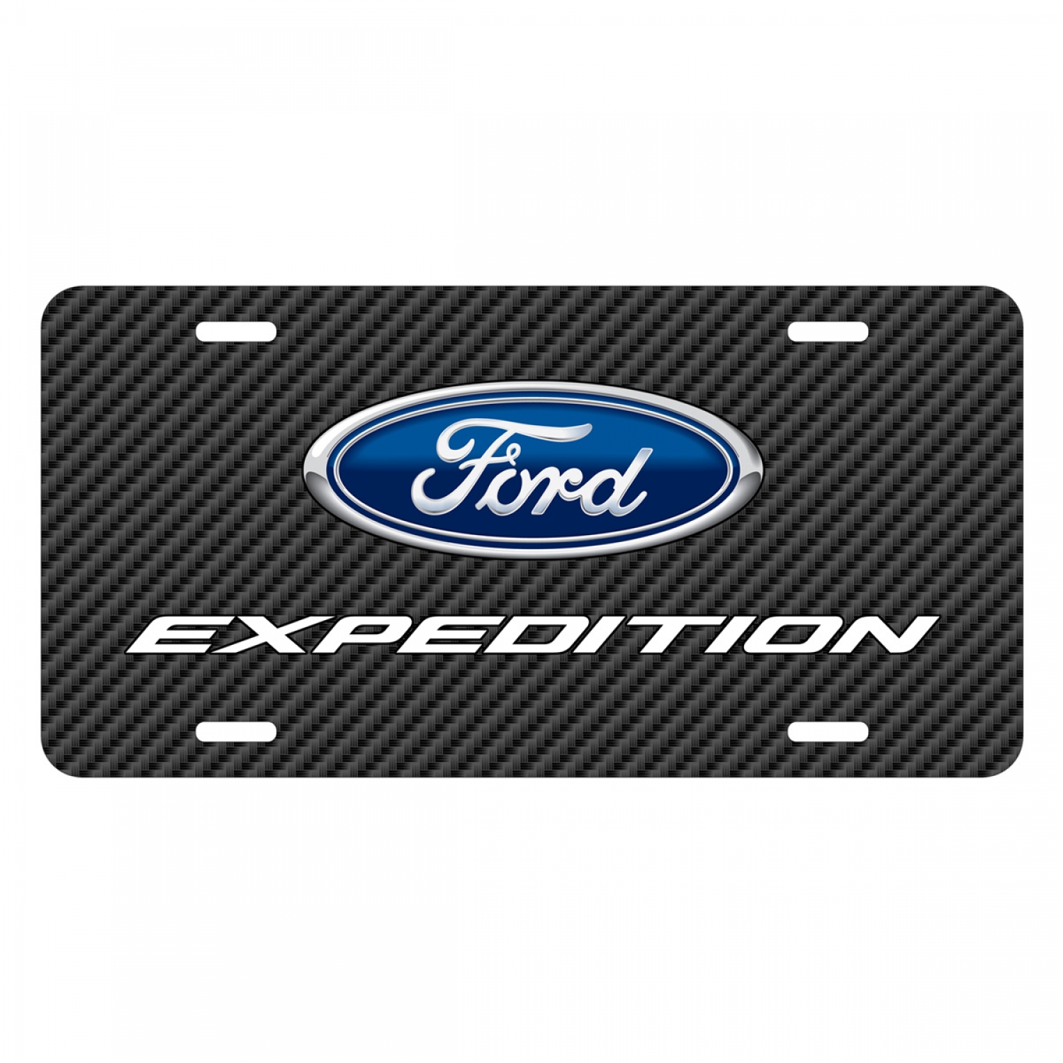 Ford Expedition Black Carbon Fiber Texture Graphic UV Metal License Plate