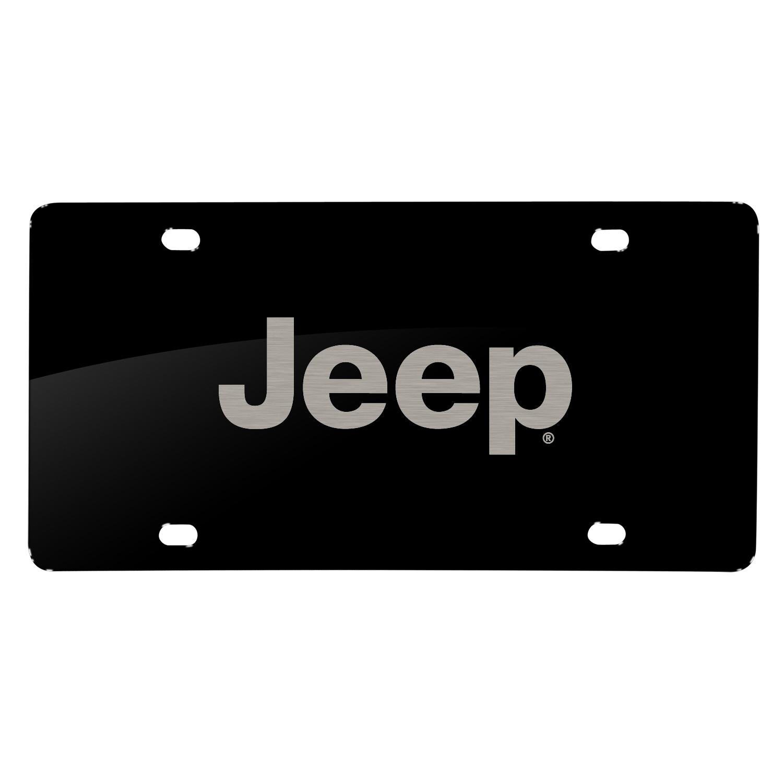 Jeep Laser Mark Black Acrylic License Plate