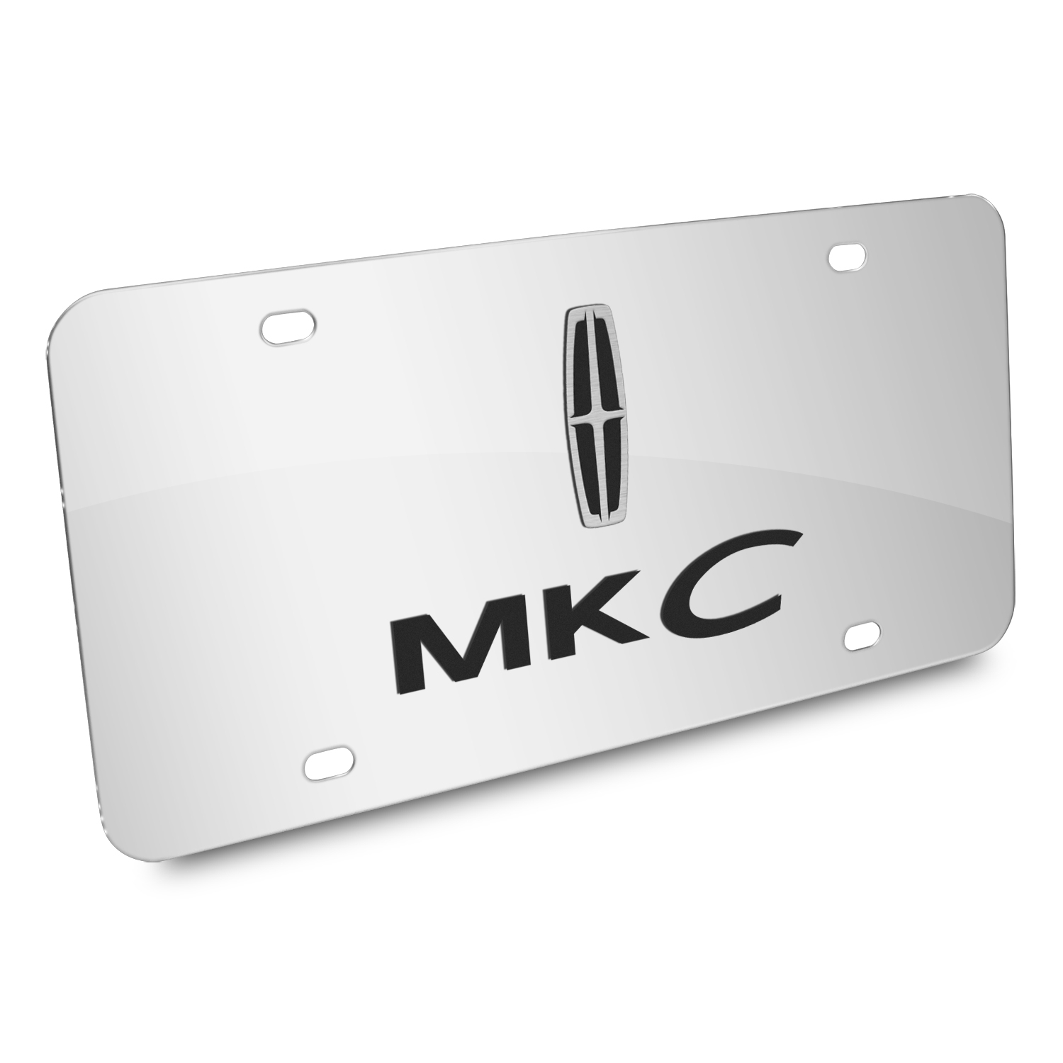 Lincoln MKC 3D Dual Logo Mirror Chrome Stainless Steel License Plate
