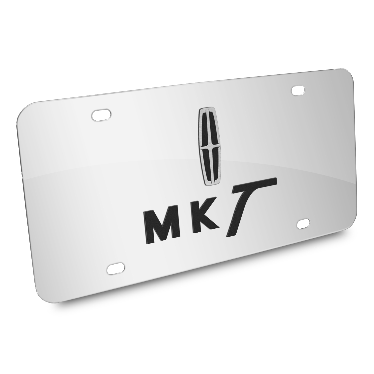 Lincoln MKT 3D Dual Logo Mirror Chrome Stainless Steel License Plate