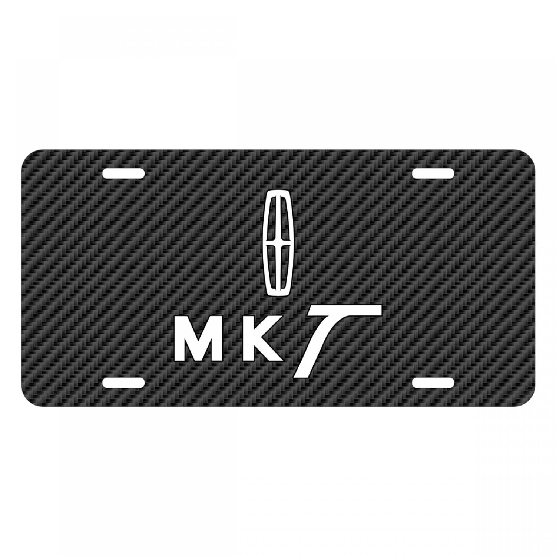 Lincoln MKT Black Carbon Fiber Texture Graphic UV Metal License Plate