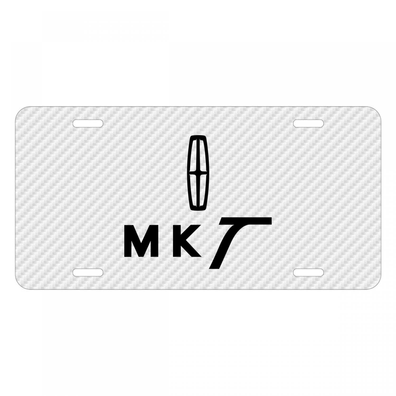 Lincoln MKT White Carbon Fiber Texture Graphic UV Metal License Plate