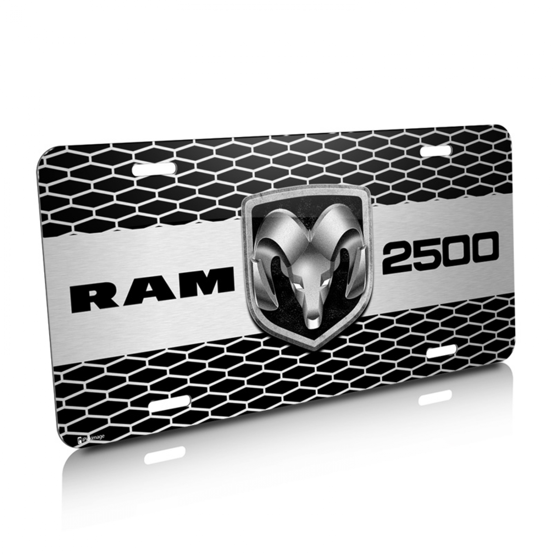 RAM 2500 Truck Grill Graphic Aluminum License Plate