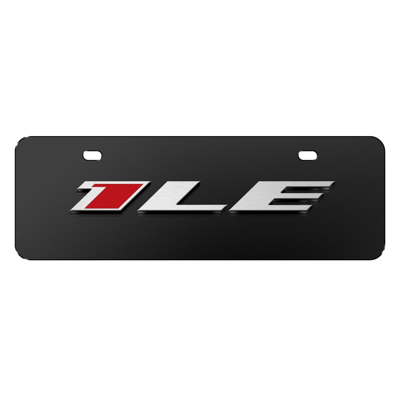 "Chevrolet 2016 Camaro 1LE 3D Logo Black 12""x4"" Half-Size Stainless Steel License Plate"